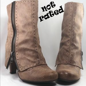 Not Rated- taupe bootie